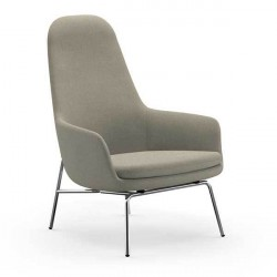 Normann Copenhagen Era Lounge stol - høj/krom, Breeze Fusion 4104