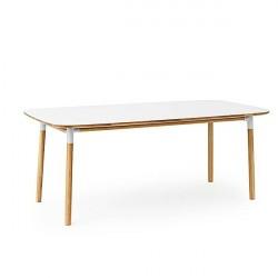 Normann Copenhagen - Form spisebord 95x200 cm - Hvid
