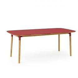 Normann Copenhagen - Form spisebord 95x200 cm - Rød