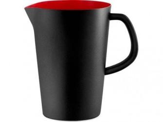 Normann Copenhagen Kande - 1 liter - Stål/silikone - Sort/rød