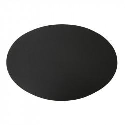 Ørskov Oval Læder Dækkeserviet M. Matchende Syninger L: 47 cm B: 35 cm