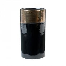 Oi Soi Oi Ceramic Vase Shiny Black