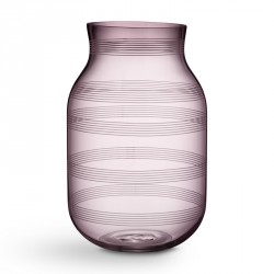Omaggio glas vase (blomme/stor)