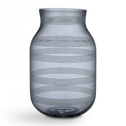Omaggio glas vase (stÅlblÅ/stor)