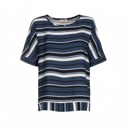 One two blouse dark navy