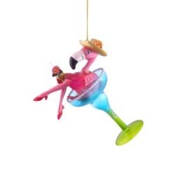 Ophæng - Flamingo i Martini glas