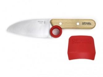 Opinel Le Petit Chef Børnekniv, kniv & fingerbeskyttelse