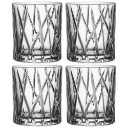 Orrefors whiskyglas - City Old Fashion - 4 stk.