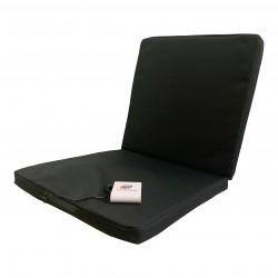 Outchair - Siddepude, batteriopvarmning, sort 40 x 40 cm