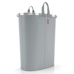 Oval vasketøjskurv - grå