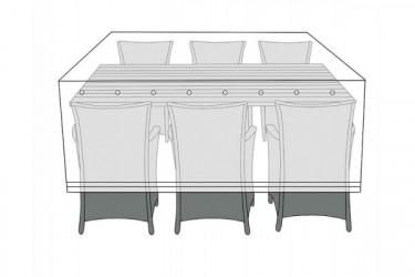 Overtræk (130x220) til bord med 6 stole