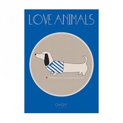 OYOY Slinkii Dog Poster