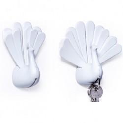 PÅfugl nØglering (hvid)