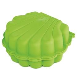 Paradiso Toys sandkasse - Muslingeskal - Lys grøn