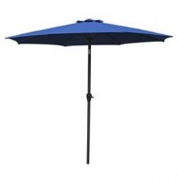 Parasol med krank og vippefunktion - Napoli - Blå