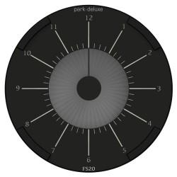 Park Deluxe elektronisk p-skive - Sort