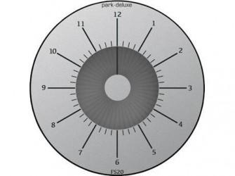 Park Deluxe P-skive - Ø 10,4 cm - Plastik - Sølv/sort