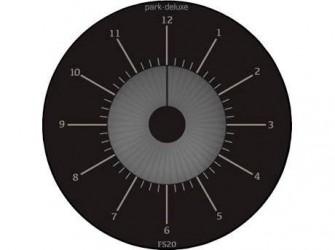 Park Deluxe P-skive - Ø 10,4 cm - Plastik - Sort