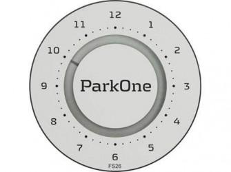 ParkOne 2 P-skive - H 10 x B 10 x D 1,6 cm - Titanium Silver