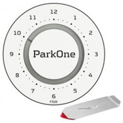 ParkOne 2 parkeringsskive inkl. Park Clip - Alpine White