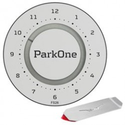 ParkOne 2 parkeringsskive inkl. Park Clip - Titanium Silver