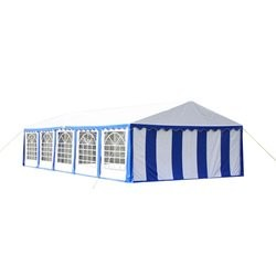 Party Tent Top and Side Panels 10 x 5 m Blue & White