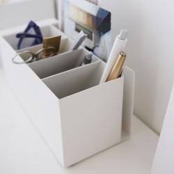 Pen holder - hvid metal