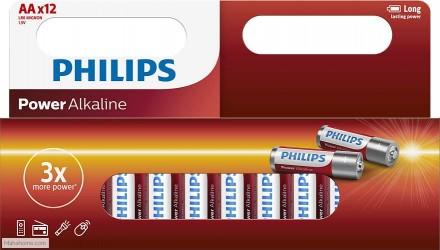 Philips - Power Alkaline AA Batteri - 12 stk