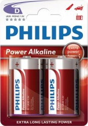 Philips - Power Alkaline D Batteri