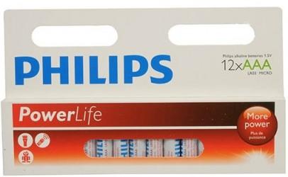 Philips - Power Life AAA Batteri - 12 stk.