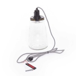 Picklelight lampe (stor/sort)