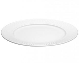 Pillivuyt Plissé tallerken flad hvid, Ø 31 cm