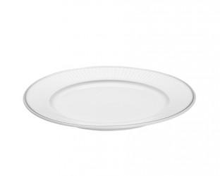 Pillivuyt Vienne Plissé tallerken flad hvid 20 cm