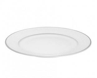 Pillivuyt Vienne Plissé tallerken flad hvid 26 cm