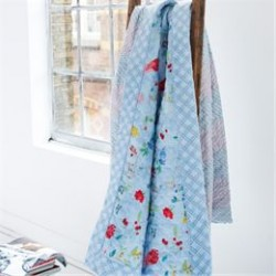 Pip Studio quiltet sengetæppe - Hummingbird - Blå