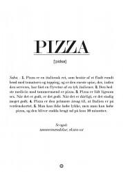 Pizza definition - plakat