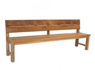 Plankebænk m/ryglæn - 240 cm