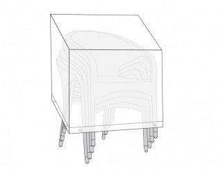 Plastovertræk (67x67x105 cm) til stabelstole