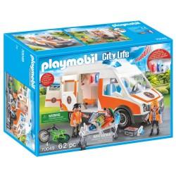 Playmobil ambulance med blinklys