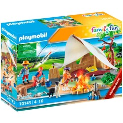 Playmobil familie på campingtur