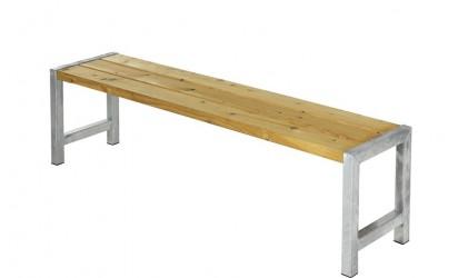 Plus - Havebænk med planker - Oliebehandlet lærk