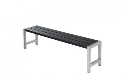 Plus - Havebænk med planker - Sort