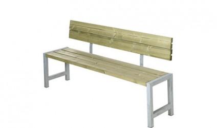 Plus - Havebænk med ryglæn - Trygimprægneret planker