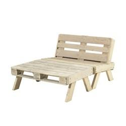 PLUS loungesæt sofa + stort bord - ubehandlet