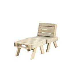 PLUS loungesæt stol + lille bord - ubehandlet