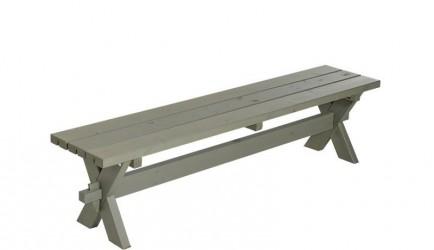 Plus - Nostalgi Plankebænk L177 cm - Gråbrun