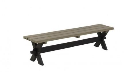Plus - Nostalgi Plankebænk - Sort/gråbrun
