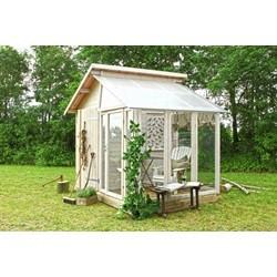 PLUS redskabsrum med drivhus 6,6 m2