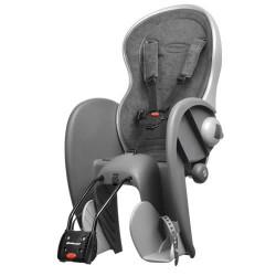 Polisport cykelstol med justerbar ryg - Grå
