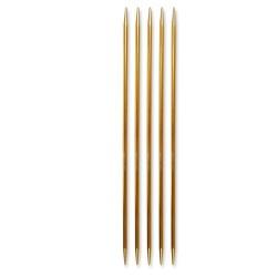 Pony strømpepinde - Nr. 3,5 - Guld